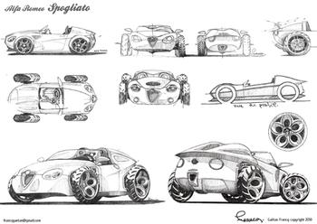 Alfa Romeo Spogliato спортивный автомобиль стиля 40-х