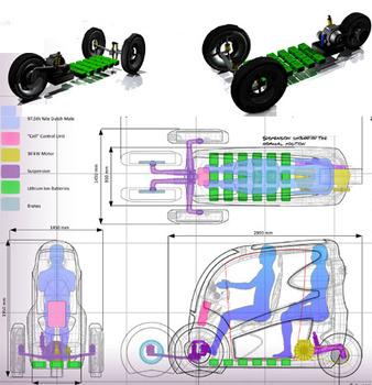 Cell Two-Seater - футуристический транспорт будущего