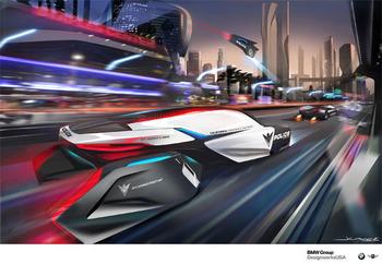 DesignworksUSA E-Patrol футуристический полицейский концепт Human-Drone