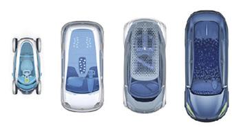 Электрические автомобилей Renault Zero в автосалоне Франкфурта