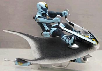 Футуристический летательный аппарат для защиты животных