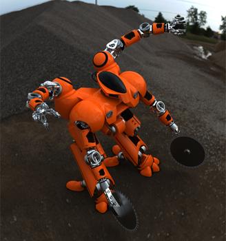 Футуристический робот пожарный - концепция Jordan Guelde