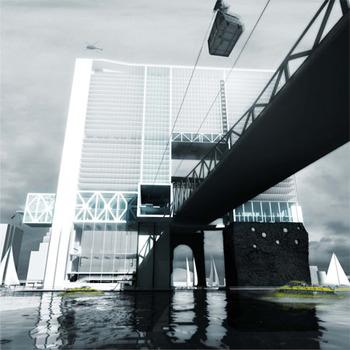 Город будущего на острове Рузвельта (защита от повышения уровня моря)