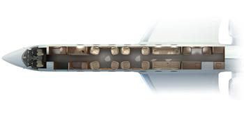 Gulfstream G550 внутренняя элегантность и повышенный комфорт