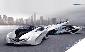 Концепт-кар от дизайнеров Liu Shun, Gao Zhiqiang, и Chen Zhilei (3 место конкурса, Michelin Design Challenge 2013)