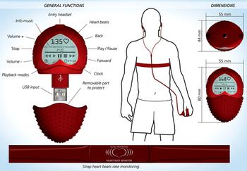 MP3-плеер в форме сердца будет проверять состояние вашего здоровья