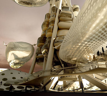 Небоскреб плавучая обсерватория Новая веха Тайваня