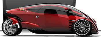 Proxima концепция слияния автомобиля и мотоцикла