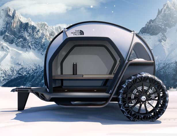 BMW Designworks в сотрудничестве с The North Face для разработки новой концепции Camper - FUTURELIGHT Camper