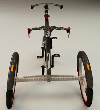 Twin инновационная концепция трехколесного велосипеда