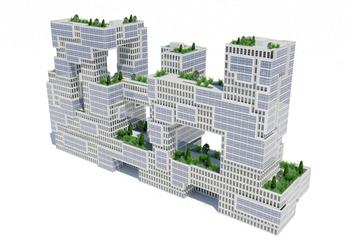 Зеленая мегаструктура - Poto Vinculum от Jorge Fontan